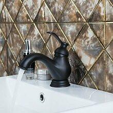 Tourmeler Kleine Becken Torneira neues Bad Öl Schwarz Bronze 97102 Deck montiert einzigen Griff Waschen Waschbecken Armaturen, Küchenarmaturen, Schwarz