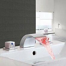 Tourmeler Led Wasserfall Waschbecken Armatur für