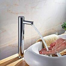 Tourmeler Messing Touch-Free Infrarot Becken Tippen Sie auf Automatische Sensor Wasserhahn, Spülbecken Armaturen, berührungslosen Waschbecken Schiff Armatur, Chrom, Chrom