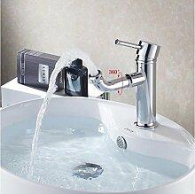 Tourmeler Messing verchromt Badezimmer Waschbecken Wasserhähne Wasserhähne Mixer Kupfer Wasserhahn Waschtisch Mischer, Armaturen HJ-6635, Chrom
