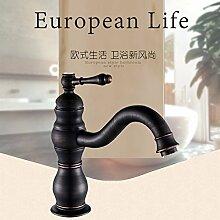 Tourmeler Öl Bronze schwarz Bad Armatur mit einem Griff aus massivem Messing Badezimmer Waschbecken Mischbatterie
