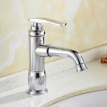 Tourmeler Silber/Gold Mode Bad Wasser Mixer Hahn Hahn Waschbecken mit warmen und kalten Mixer 9017, Silber