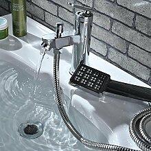 Tourmeler Stahl Waschbecken Wasserhahn, Polen & Verchromt Waschtisch Armatur, Deck montiert Waschtisch Mischer, L 14186, Chrom, Hellgrau