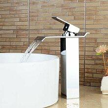 Tourmeler Wasserfall Bad Armatur hoch Mixer Waschbecken Armaturen für Badezimmer einzigen Griff Chrom beendete, F 9001 C