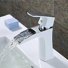 Tourmeler Werk direkt Schöne Hot Sale Zeitgenössische einzigartige Form Luxus einzigen Griff Wasserfall Wasserhahn Toilette Waschbecken Mischbatterie, niedrigen weißen Hahn
