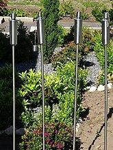 Tourwell Vertrieb 4 x Gartenfackel Ölfackel