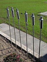 Tourwell Vertrieb 8 x Gartenfackel Ölfackel