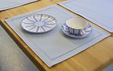 TOVALINO Tisch-Sets eckig in hellblau 4 Stück