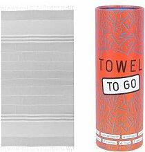 Towel to Go Malibu, Reisehandtuch, Hamamtuch,