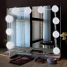 ToWinle 10Stk Spiegellampe Hollywood Spiegel
