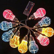 Towinle 2M 10 Leds Lichterkette Crack Glühbirne