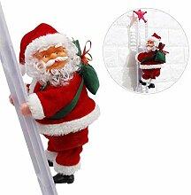 Towinle Elektrische Weihnachtsmann auf Leiter