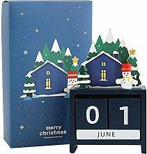 TOYANDONA 2021 Weihnachtskalender Weihnachten Holz