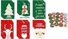 TOYANDONA 24 Stück Weihnachtskarten Countdown
