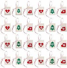 TOYANDONA 24Pcs Weihnachten Countdown Kalender