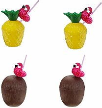 TOYANDONA 4pcs Coconut Cups Kokosnuss Trinkflasche