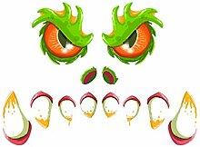 TOYANDONA Halloween Monster Gesicht Dekorationen