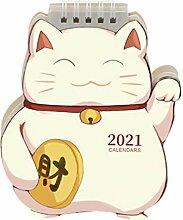 TOYANDONA Mini Tischkalender 2021 Kalender Planer