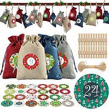 TOYANDONA Weihnachten Adventskalender Taschen 24