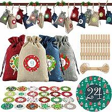 TOYANDONA Weihnachten Adventskalender Tüten 24