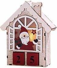 TOYANDONA Weihnachts Adventskalender Holz