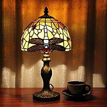TOYM 8 inch Europäischen Retro Luxus handgemachten Tiffany-Lampen Restaurant Spezialitäten braunen dekorative Beleuchtung Tischlampe