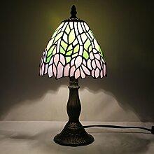 TOYM 8-Zoll-Tiffany verlässt, Grasrock retro restaurant bar KTV Clubs dekorative handgemachte Glas Tischleuchte Tiffany-Lampen
