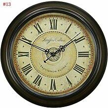 TOYM europäischen retro stumm Wanduhr, antike Taschenuhr Mode Wohnzimmer, amerikanischen Land Nordic Uhr