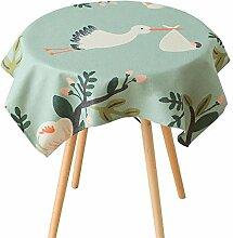 TOYM- Handgemalte Baumwollgewebe Frische Garten-Vogel-Tabelle Bugaboo Kaffee-Tabellen-Tuch-Tee-Tuch ( größe : 140*140cm )