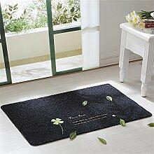 TOYM- Haustürmatten Fußmatte nach Hause Schlafzimmer Küche Halle Badematte rutschfeste Badematten nach Hause ( farbe : Dark Grey , größe : 80*120cm )