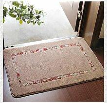 TOYM- Hirtenhaupttürmatten Fußmatte Flur Küche Badezimmer-saugfähige Matte Badematte Teppich ( farbe : Light Tan , größe : 80cm*110cm )