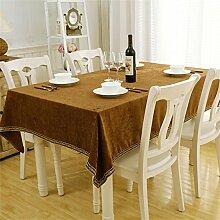 TOYM- Quadratisch Modern Einfache Tischdecke Tee Tischdecke Wohnzimmer Western Restaurant Tischdecke ( größe : 140*240cm )