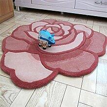 TOYM- Rose Runde Verschlüsselung dicker Dämmmatten rutschfeste Matte Fenster und warme Bett dekorative Matten