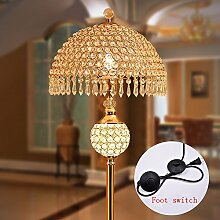 TOYM UK Amerikanische Kristall Stehlampe Wohnzimmer Schlafzimmer Bett Studie Moderne Continental Stehlampen