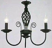 TOYM UK-Blau minimalistische moderne mediterrane schmiedeeiserne Kronleuchter Wohnzimmer Restaurant Schlafzimmer Lampe