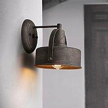 TOYM UK Einzelne Eisenschmiedeeisen-Wandlampe,