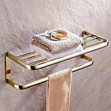 TOYM- Voller antiken Kupfer Handtuchhalter Handtuchhalter Wand-WC-Racks Bad-Accessoires ( farbe : Zirconium Gold )