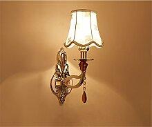 TOYM-Wandleuchte Continental Retro Pastoral Schlafzimmer Nachttischlampen Corridor Aisles Spiegel Scheinwerfer