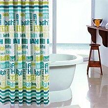 TOYM- Wasserdichte Mehltau Englisch Buchstaben Plus Blei Waschbecken Badezimmer Polyester Vorhangstoff