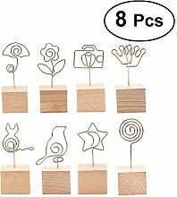 TOYMYTOY Tischkartenhalter aus Holz für Fotos in