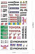 Toyota Logo Autoaufkleber Sponsoren Marken Aufkleber Decals Tuning Sticker Se
