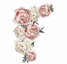 TOYP Große Pfingstrose Blumen Wandaufkleber
