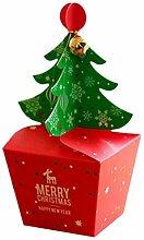 Toyvian 10 stücke Weihnachten Apple Box Box