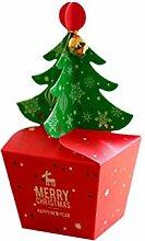 Toyvian 10 stücke Weihnachten Apple Box