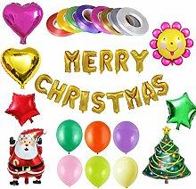 Toyvian 35 Stücke Weihnachten Folienballons Set