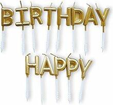 Toyvian Alles Gute zum Geburtstag Kerze Buchstaben