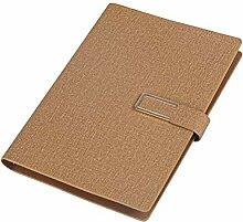 Toyvian Notebook PU-Leder Business Notebook Memo
