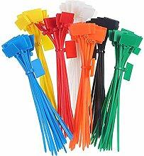 Toyvian Plastikbinder, wiederverwendbar, 4 x 150