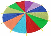 Toyvian Schwungtuch Fallschirm Regenbogen