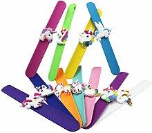 Toyvian Snap Armband Silikon Kinder Einhorn Slap